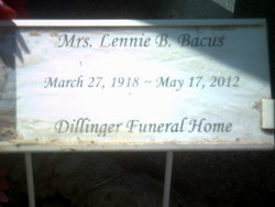 Lennie Bernice <i>Wallace</i> Bacus