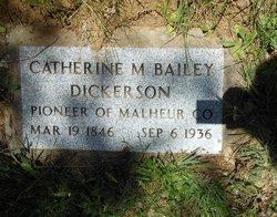 Catherine Melinda Kate <i>Bailey</i> Dickerson