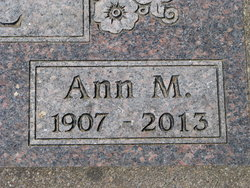 Anna Maria Ann <i>Thielke</i> Riehl