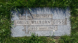 Olive Welborn Ollie <i>Owens</i> Goss