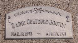 Zadie Gertrude Gertie <i>McClure</i> Booton