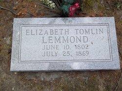 Elizabeth <i>Tomlin</i> Lemmond