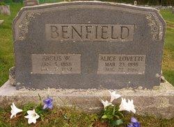 Alice Ida <i>Lovett</i> Benfield