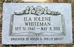 Ila Iolene <i>Wright</i> Whiteman