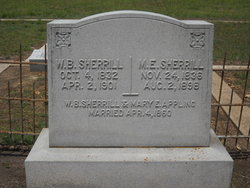 Mary Elizabeth <i>Appling</i> Sherrill