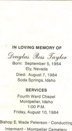 Douglas Ross Doug Taylor