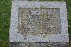 Julia A <i>Weaver</i> Huntley