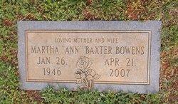 Martha Ann <i>Baxter</i> Bowens