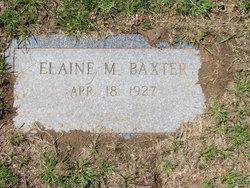 Elaine M <i>Wilson</i> Baxter