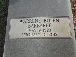 Warrene <i>Bolen</i> Barbaree