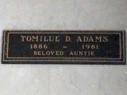 Tomilue <i>Davis</i> Adams