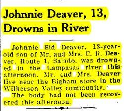 John Sidney Johnny Sid Deaver
