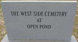 West Side Cemetery at Open Pond