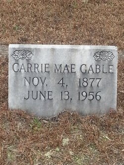 Mrs Carrie Mae <i>Waldrop</i> Gable