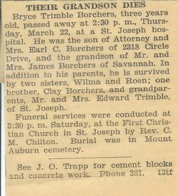 Bryce Trimble Borchers