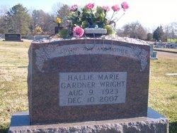 Hallie Marie <i>Gardner</i> Wright