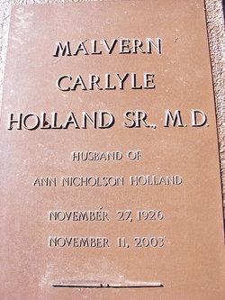 Dr Malvern Carlyle Holland, Sr