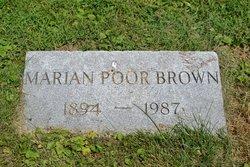 Marian <i>Poor</i> Brown