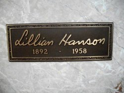 Lillian B <i>Bankson</i> Hanson