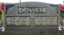 Elsie <i>Johnson</i> Calvert
