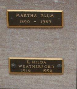 Martha Mae <i>Smith</i> Blum