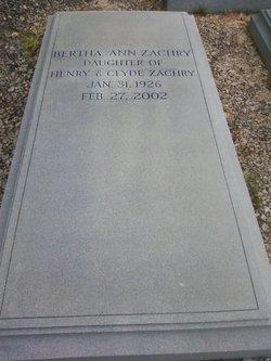 Bertha Ann Zachry