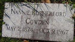 Nannie <i>Rutherford</i> Cowden