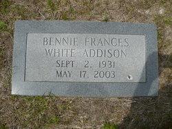 Bennie Frances <i>White</i> Addison