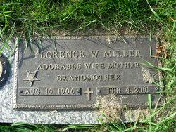 Florence W Miller
