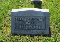Garrie <i>Daughtrey</i> Carr