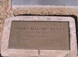Henry Malone Lone Bailey