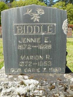 Elizabeth Jane Jennie <i>Mulkey</i> Biddle