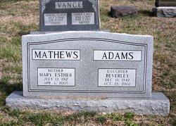 Beverley <i>Mathews</i> Adams