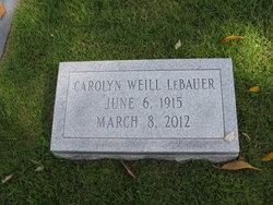 Carolyn <i>Weill</i> LeBauer
