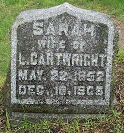 Sarah M <i>Wood</i> Cartwright