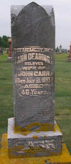 Ann <i>Dearing</i> Carr