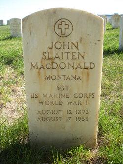 Sgt John Slaiten MacDonald