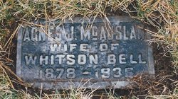 Agnes Jane Aggie <i>McAuslan</i> Bell