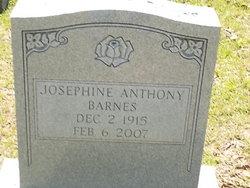 Josephine <i>Hargett Anthony</i> Barnes