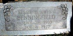 Bessie Owens Benningfield