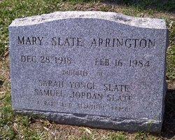 Mary Yonge <i>Slate</i> Arrington
