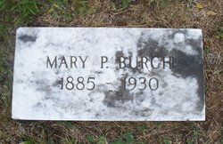 Mary E <i>Parker</i> Burch