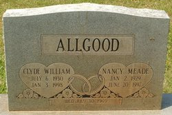 Nancy <i>Meade</i> Allgood