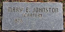 Mary E. <i>Johnston</i> Carter