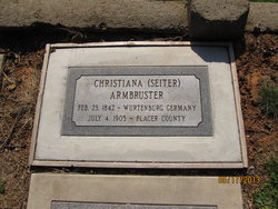 Christiana <i>Seiter</i> Armbruster