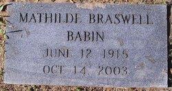 Mathilde <i>Braswell</i> Babin