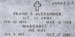 Sgt Frank S. Alexander