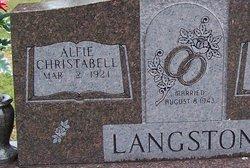 Alfie Christabell <i>Sherwood</i> Langston