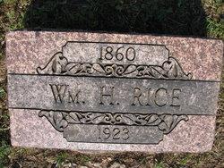William Henry Bill Rice