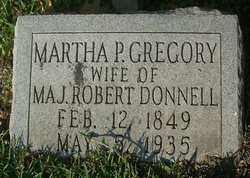 Martha Pegram Mattie <i>Gregory</i> Donnell